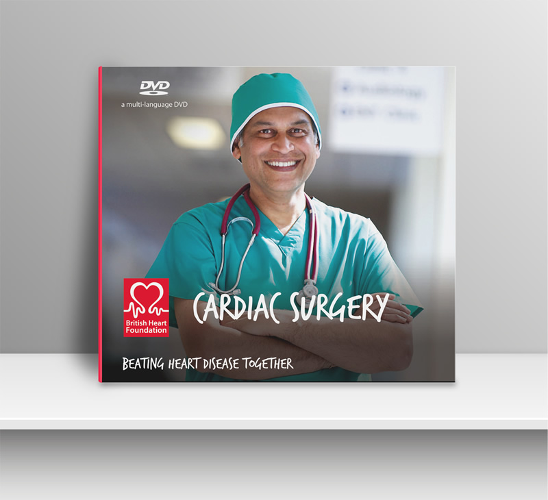 BHF Cardiac Surgery DVD Cover - Design