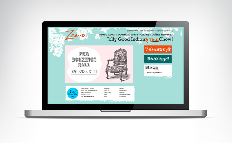 Zeera Website - Design